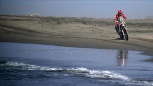 Barragán durante el Dakar