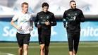 Benzema y Vallejo han entrenado en solitario