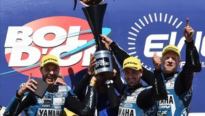 Canepa, Di Meglio y David Checa, en el podio de Paul Ricard