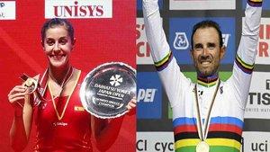 Carolina Marín y Alejandro Valverde, los mejores del 2018