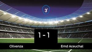 Empate, 1-1, entre el Olivenza y el Emd Aceuchal