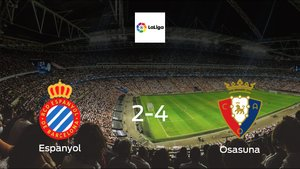 Espanyol fall to Osasuna with a 2-4 at Rcde Stadium
