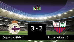 El Extremadura se clasifica para semifinales con un gol en la prórroga ante el Deportivo Fabril