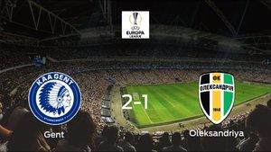 El Gent consigue la victoria en casa frente al Oleksandriya (2-1)