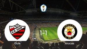 La UD Guíay el Arucasse reparten los puntos y empatan 1-1