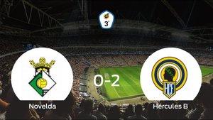 El Hércules de Alicante B se lleva tres puntos a casa tras ganar 0-2 al Novelda