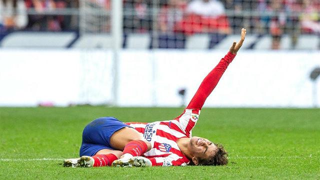 Joao Félix, dos a tres semanas de baja por lesión