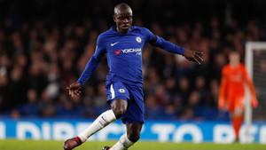 Kanté en el partido entre el Chelsea y el Crystal Palace