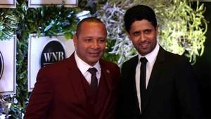 Al Khelaifi y el padre de Neymar posan juntos en Sao Paulo