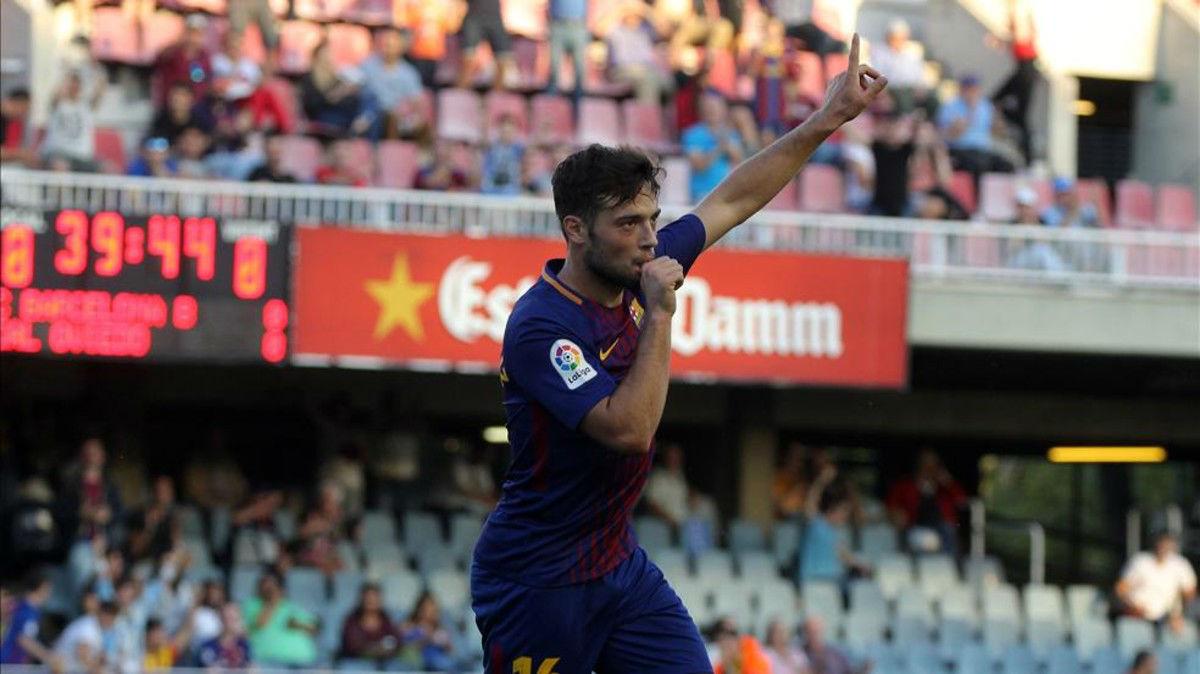 LALIGA 123   Barça B-Oviedo (1-1): El gol de Arnáiz