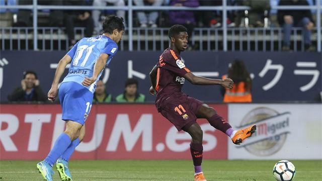LALIGA | Málaga - FC Barcelona (0-2): Dembélé aprueba con nota