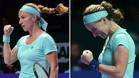 La larga trenza de Svetlana Kuznetsova quedó reducido casi a la mitad tras coger las tijeras