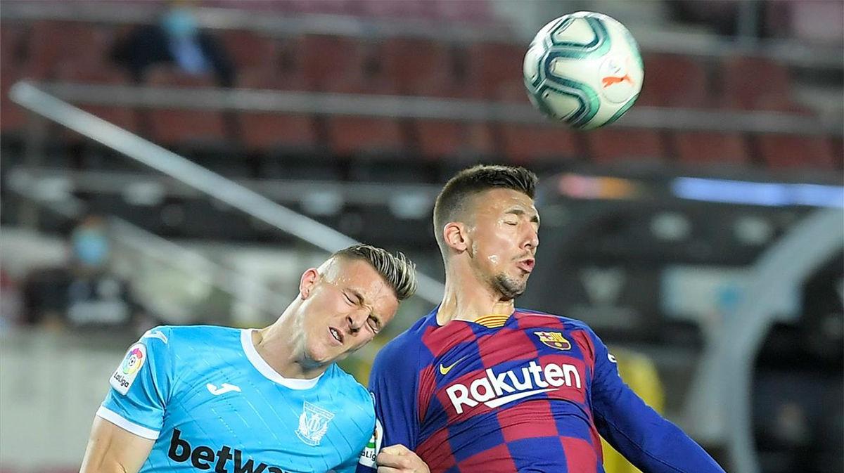 Lenglet se convirtió en el salvador del Barça en la primera mitad