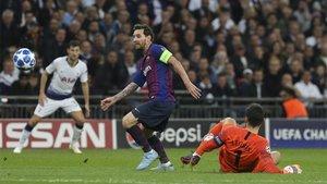 Leo Messi sigue pichichi de la Champions pese a no marcarle a Lloris en el Camp Nou