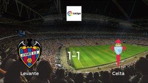 Levante drop points against Celta: 1-1 at Estadio de La Ceramica