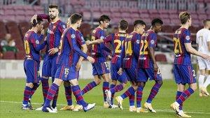 Los jugadores conocieron el anuncio de las renovaciones tras el Barça - Ferencvaros