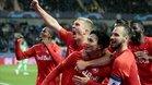 Los jugadores del Salzburgo celebran un gol ante el Genk
