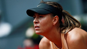 Maria Sharapova durante el partido de segunda ronda del Masters 1000 Mutua Madrid Open