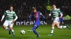 Messi abrió el marcador en Celtic Park