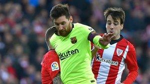 Messi puso fin a su racha goleadora este domingo en San Mamés (0-0)