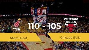 Miami Heat consigue la victoria frente a Chicago Bulls por 110-105