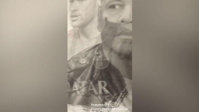 Neymar cuelga un vídeo en Instagram donde aparece el escudo del Barça