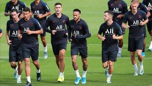 Neymar regresó a los entrenamientos con normalidad