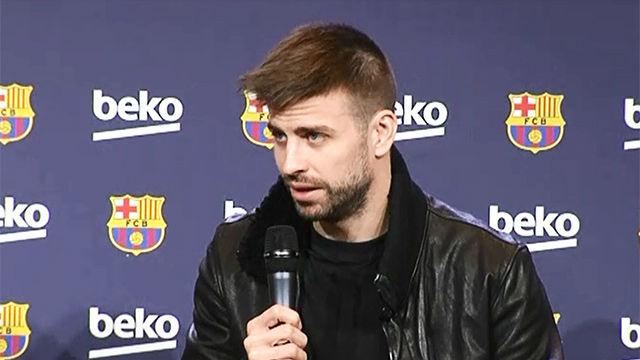 Piqué habló sobre la actualidad del Barça durante el acto publicitario de Beko