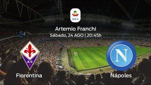Previa del partido: la Fiorentina inicia el torneo recibiendo al Nápoles