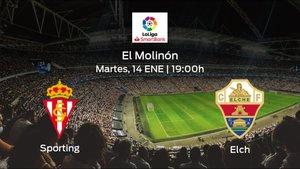 Previa del partido de la jornada 23: Real Sporting - Elche