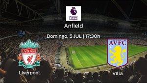 Previa del partido: el Liverpool defiende el liderato ante el Aston Villa