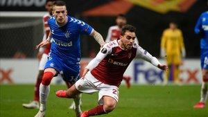 Ricardo Horta cae ante Kent, autor del 0-1 escocés