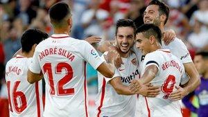 El Sevilla doblegó al Celta y ya es líder
