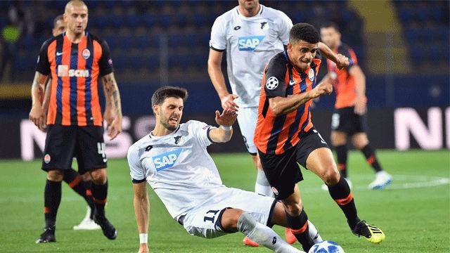 El Shakhtar empató in extremis al Hoffenheim