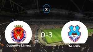 Tres puntos para el casillero del Muleño tras golear a la Deportiva Minera (0-3)