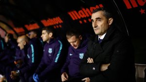 Valverde sufrió desde el banquillo de Vallecas