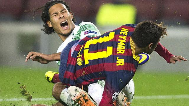 Van Dijk ya se enfrentó al FC Barcelona con la camiseta del Celtic