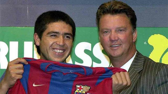 Van Gaal compara a Messi con Riquelme