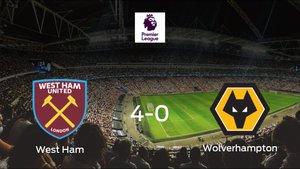 El West Ham se queda con los tres puntos frente al Wolverhampton Wanderers (4-0)