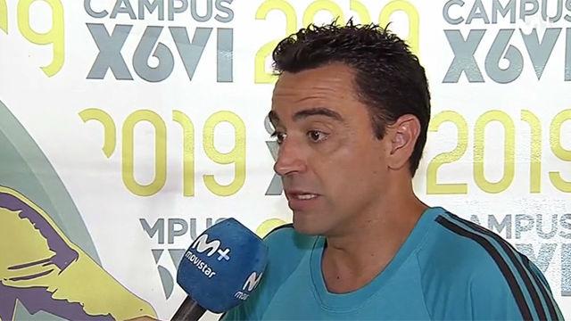 Xavi: Llegar al banquillo del Barça es uno de los objetivos que tengo