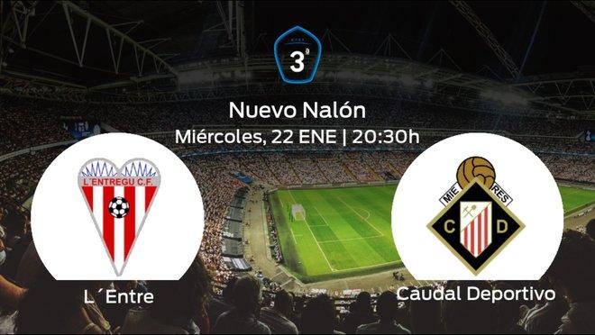 Jornada 21 de la Tercera División: previa del encuentro L'Entregu - Caudal Deportivo