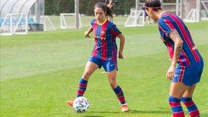 Aitana marcó dos goles para el Barça
