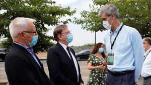 Antonio Martin, junto al Presidente de la Generalitat y al Alcalde de Valencia