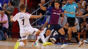 El Barça Lassa seguirá líder una jorana más tras golear al Segovia