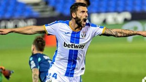 Bastón anotó uno de los dos goles del triunfo del Leganés