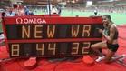 Beatrice Chepkoech tras batir el récord mundial