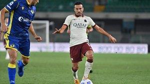 El canario debutó con la camiseta de la Roma