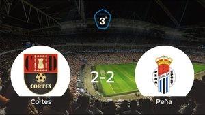 El Cortes y la Peña Sport se reparten los puntos tras su empate a dos