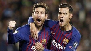Coutinho, con Messi