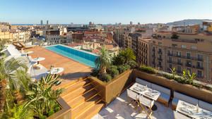 La espectacular terraza del The One Barcelona